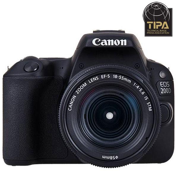 Camera foto DSLR CANON EOS 200D , 24.2MP, Wi-Fi, negru + Obiectiv EF-S 18-55mm IS STM