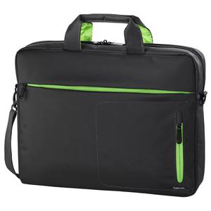 """Geanta laptop HAMA Marseille, 15.6"""", poliester, gri-verde"""