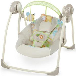 Leagan portabil INGENUITY Sunny Snuggles, 0 - 9 luni, crem