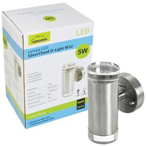 Lampa de exterior LED SILVERCLOUD PNI-SCDLW32, 5W, 224 lumeni, argintiu