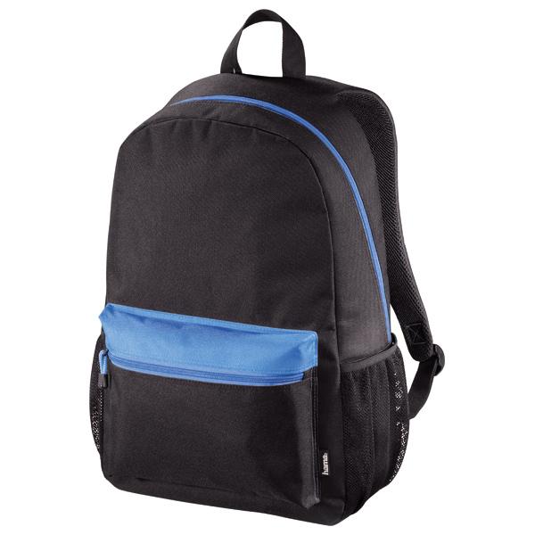 "Rucsac laptop HAMA 101249, 15.6"", negru-albastru"