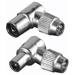 Set 2 mufe conexiune coaxial HAMA 122481