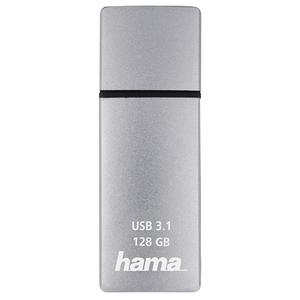 Memorie portabila HAMA C-Bolt 124196, 128GB, USB 3.1 Type-C Gen 2, argintiu