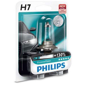 Bec auto far halogen PHILIPS H7 X-Treme Vision+130%, 12V, 55W, blister 1 bucata