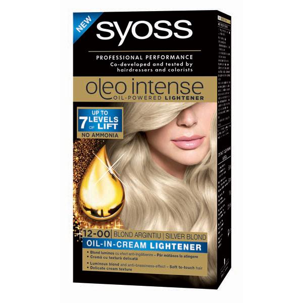 Vopsea De Par Syoss Color Oleo 12 00 Blond Argintiu 115 Ml