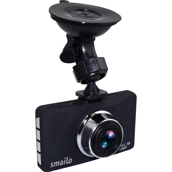 Camera auto DVR SMAILO Optic, Full HD, 145 grade, G-senzor, H.264, 3 inch, negru