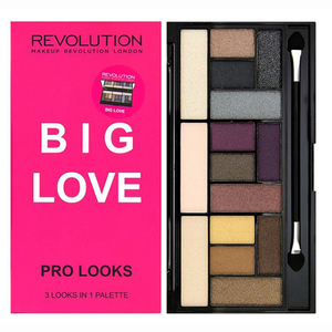 Paleta farduri MAKEUP REVOLUTION LONDON Pro Looks, Big Love, 13g