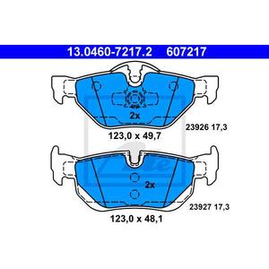 Placute frana spate ATE 13046072172, BMW