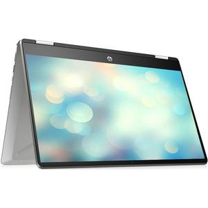 "Laptop 2 in 1 HP Pavilion x360 14-dh1000nq, Intel Core i3-10110U pana la 4.1GHz, 14"" Full HD, 8GB, SSD 256GB, Intel UHD Graphics, Free Dos, argintiu"