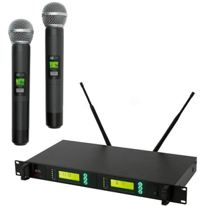 Set microfoane wireless SAL MVN 900, 2 buc, 100m, negru