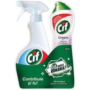 Pachet CIF UltraFast 500ml + Lila Microcristale 500ml