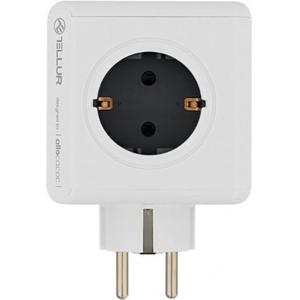 Priza multipla cu protectie TELLUR TLL151101, 4 prize, 2 x USB, alb