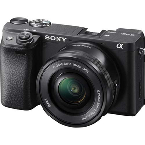 Camera foto mirrorless SONY a6400, negru + Obiectiv E 16-50mm, 24.2 MP, 4K HDR, negru