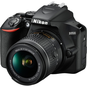 Camera foto DSLR NIKON D3500+ obiectiv 18-55mm VR, 24.2 Mp, 3 inch, negru