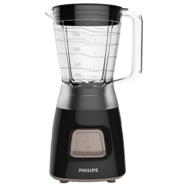 Blender PHILIPS Daily Collection HR2052/90, 1 viteza, 350W, negru