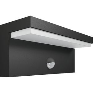 Lampa de perete cu senzor de miscare PHILIPS myGarden Bustan IR 16484/93/P3, 2x4.5W, IP44, 4000K, antracit