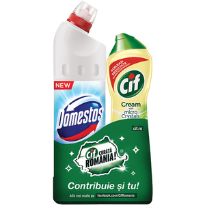 Pachet CIF Lemon 500ml + PowerWhite/Shine 750ml
