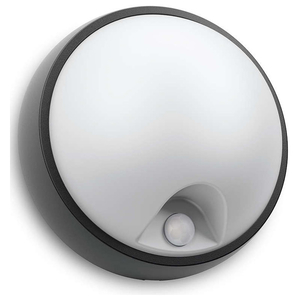 Lampa de perete cu senzor de miscare PHILIPS myGarden 173183016, 3.5W, IP44, alb-negru
