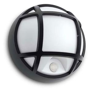 Lampa de perete cu senzor de miscare PHILIPS myGarden Eagle 17319/30/16, 3.5W, IP44, negru