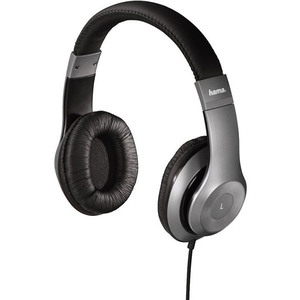 Casti HAMA HK6104 177092, Cu Fir, Over-Ear, Microfon, gri