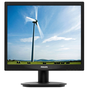 "Monitor LED PHILIPS 17S4LSB, 17"", 1280 x 1024p, negru"