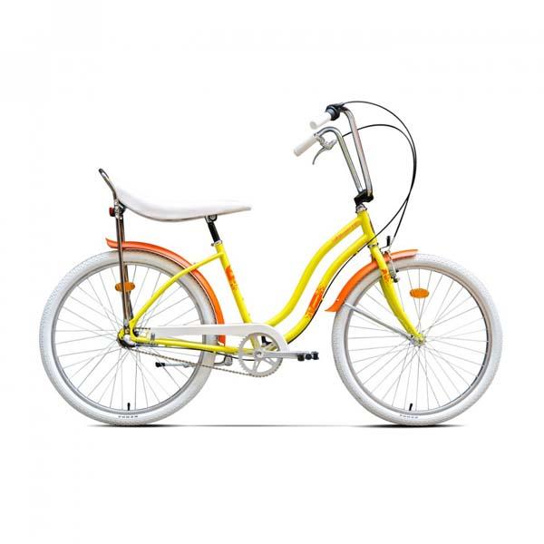 Bicicleta de oras PEGAS Strada2 Alu 3S, Galben Floare
