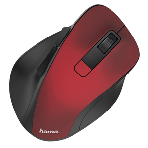 Mouse Wireless HAMA MW-500, 1600 dpi, rosu