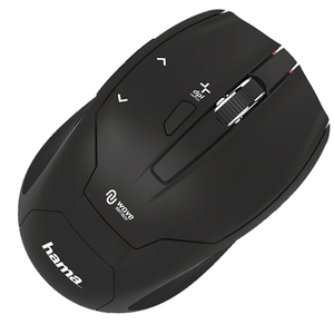 Mouse Wireless HAMA Milano, 2400 dpi, negru