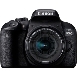 Aparat foto DSLR CANON EOS 800D 24.2 MP, Wi-Fi, negru + Obiectiv 18-55mm IS STM