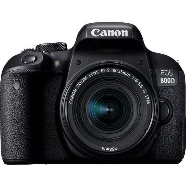 Aparat foto DSLR CANON EOS 800D 24.2 MP, Wi-Fi, negru + Obiectiv 18-55mm IS STM