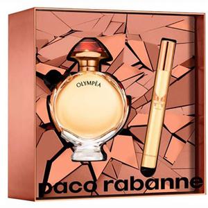 Set cadou PACO RABANNE Olympea Intense: Apa de parfum, 50ml + Spray travel, 10ml