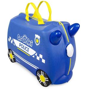 Troler Copii TRUNKI Percy Masina De Politie 0323-Gb01, 31cm, albastru