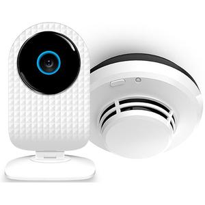 Kit smart cam+ senzor de fum  ALLVIEW SCAMSMOKE, alb