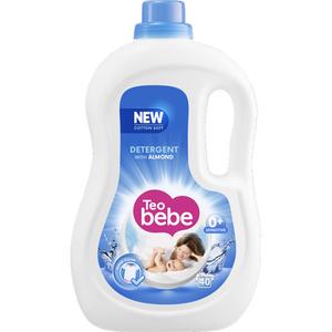 Detergent lichid TEO Bebe Almond, 2.2l, 40 spalari