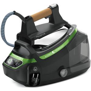 Statie de calcat ROWENTA Silence Steam DG8996F0, 1.4l, 500g/min, 2400W, talpa Microsteam 400 Laser, negru - verde