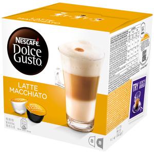 Capsule cafea NESCAFE Dolce Gusto Latte Macchiato, 8 capsule cafea + 8 capsule lapte, 194g