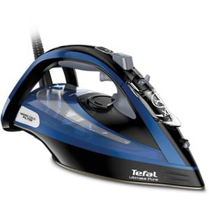 Fier de calcat TEFAL Ultimate Pure FV9834E0, 350ml, 240g/min, 3000W, talpa Durilium AirGlide, albastru