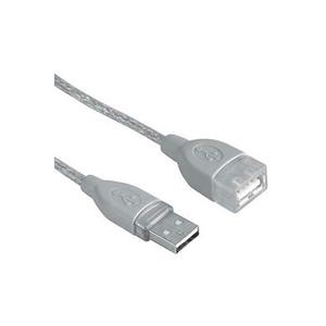 Cablu extensie USB 2.0 HAMA 45040, 3m, gri