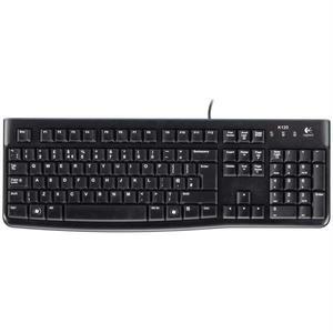 Tastatura cu fir LOGITECH K120, USB, Layout UK, negru