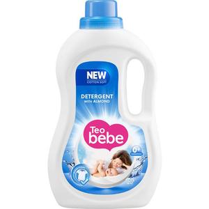 Detergent lichid TEO BEBE Almond, 1.1l, 20 spalari