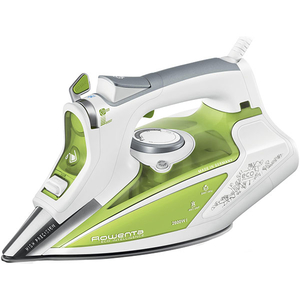 Fier de calcat ROWENTA Ecosteam DW9210D1, 350ml, 200g/m, 2600W, talpa Microsteam 400 Profile Laser, alb - verde