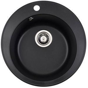 Chiuveta bucatarie ALVEUS Rondo 10 G91, 1 cuva, compozit granit, negru