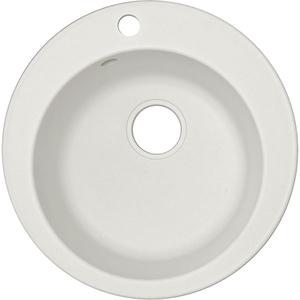 Chiuveta bucatarie ALVEUS Rondo 10 G11, 1 cuva, compozit granit, alb