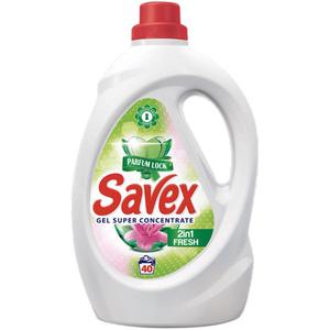 Detergent lichid SAVEX 2 in 1 Fresh, 2.2l, 40 spalari