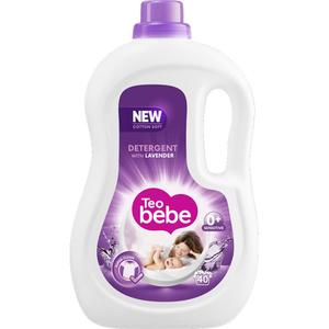 Detergent lichid TEO Bebe Lavender, 2.2l, 40 spalari