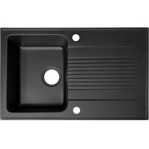 Chiuveta bucatarie ALVEUS Helio 30 G91, 1 cuva, picurator reversibil, compozit granit, negru