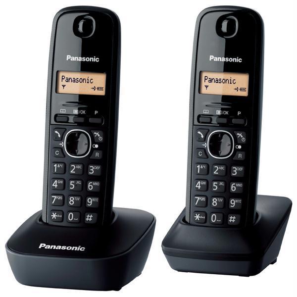 Telefon DECT PANASONIC KX-TG1612FXH, digital, 50 memorii, negru