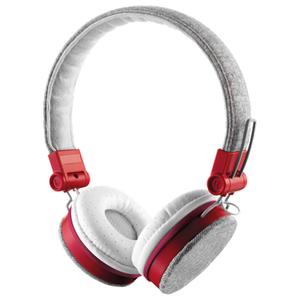 Casti audio cu microfon TRUST Fyber, 3.5mm, gri-rosu