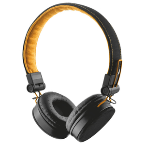 Casti audio cu microfon TRUST Fyber, 3.5mm, negru-portocaliu