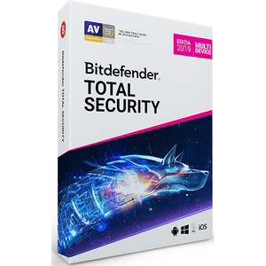 BITDEFENDER Total Security 2019, 1 an, 3 PC, Retail